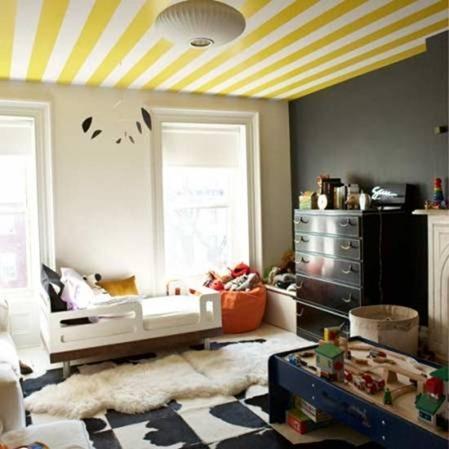 Как оформить потолок в детской комнате: пять интересных идей