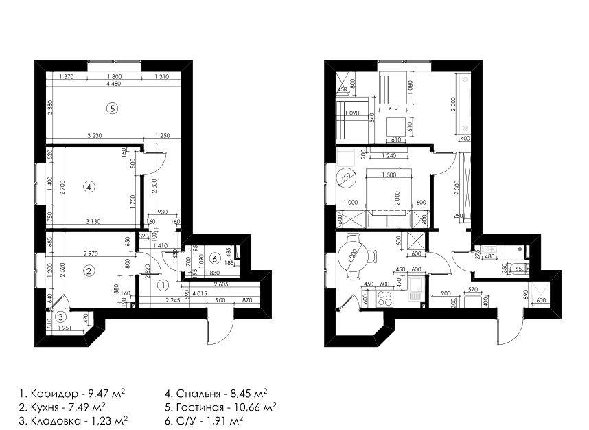 Как обустроить квартиру, в которой всё очень маленькое