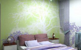 Красивая стена в спальне