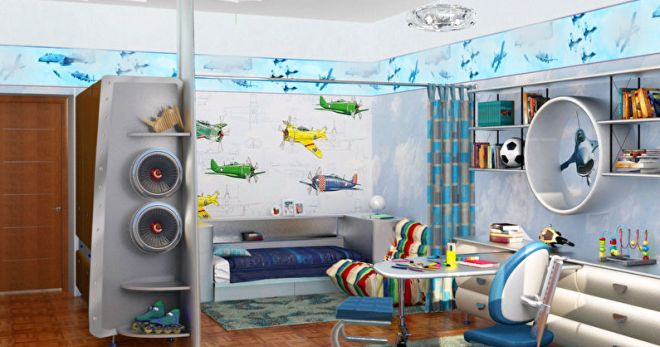 Дизайн детской комнаты: разнообразие стилей и цветовых решений.
