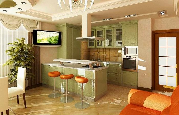 Как спланировать кухню в квартире-студии, чтобы она была не только удобной, но и эффектной