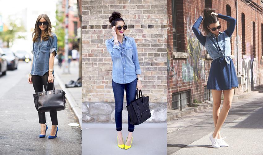 Джинсовая рубашка — отличный вариант повседневной одежды