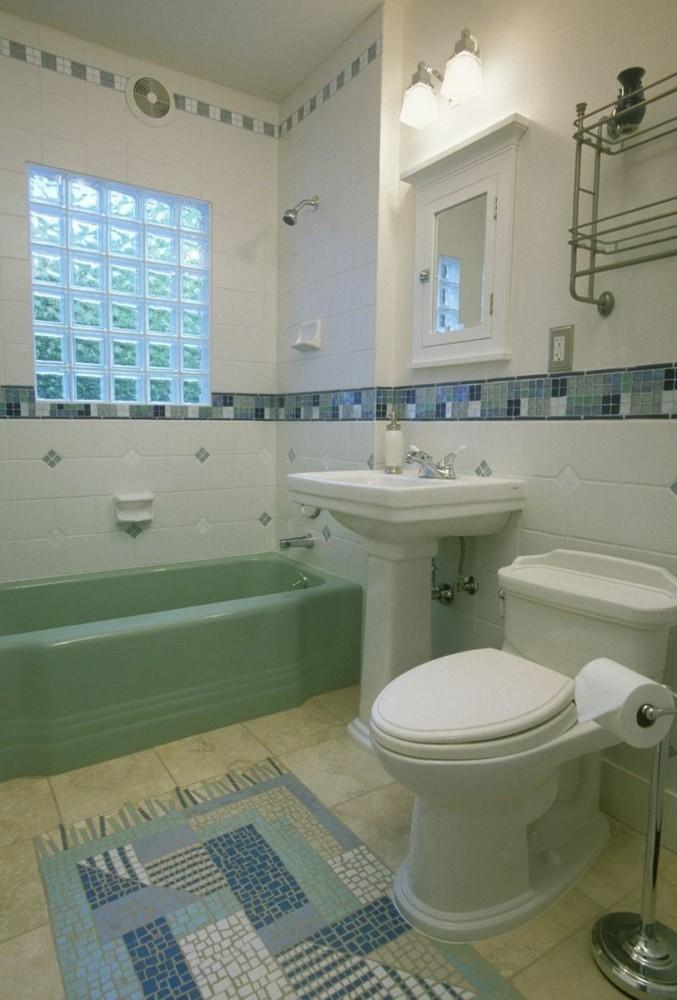 Мозаичная плитка: идеи дизайна ванной комнаты