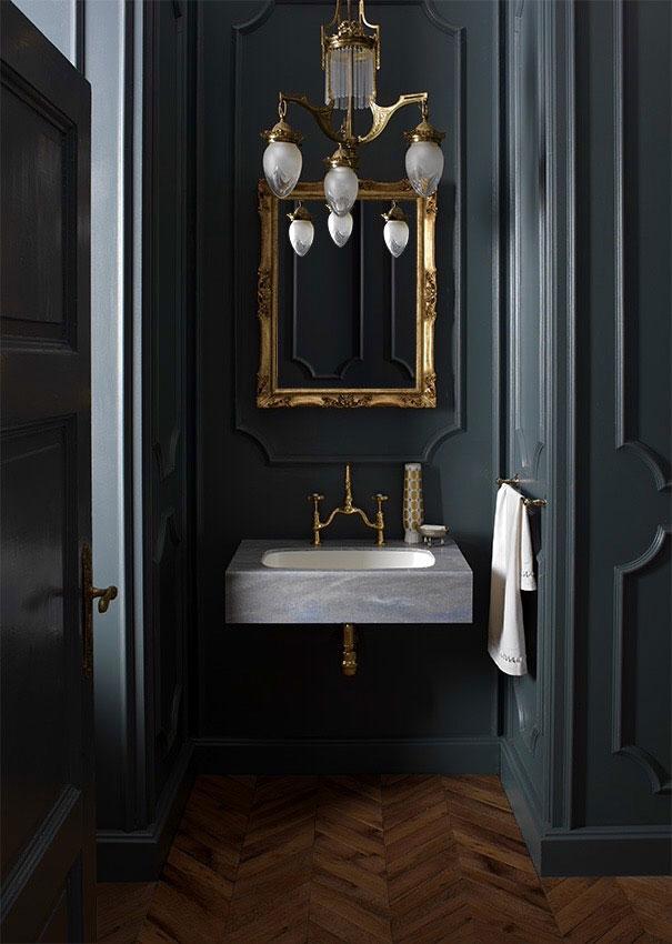 Чёрный цвет в ванных комнатах?