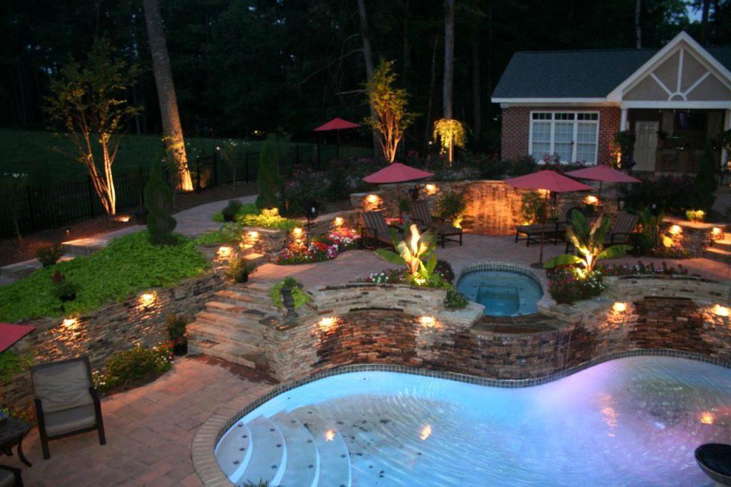 Идеи по освещению садового участка