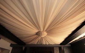Общая характеристика потолков из ткани
