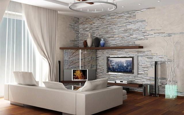 Искусственный камень в дизайне интерьера