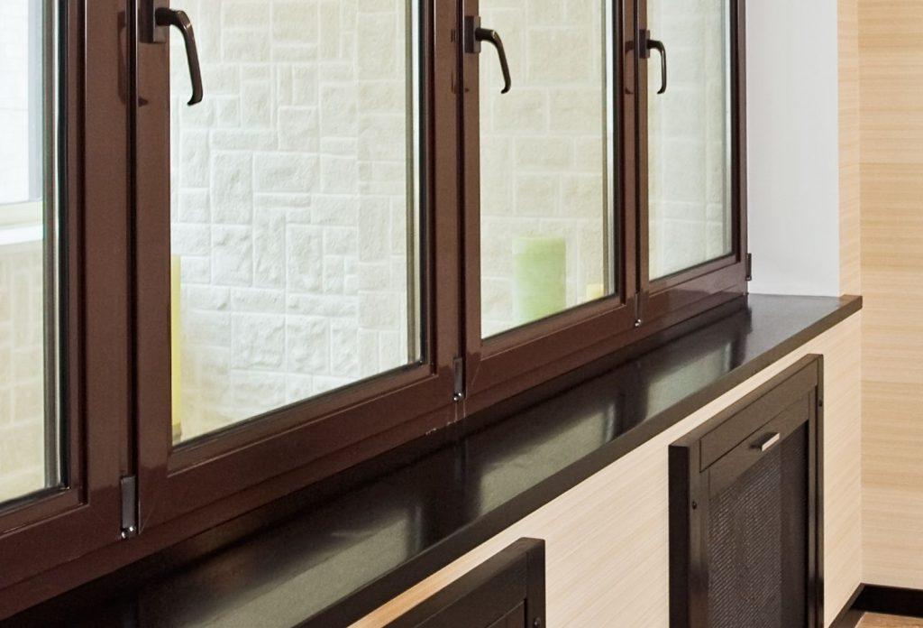 Пластиковые окна с коричневым профилем — элегантность и практичность