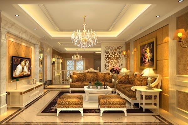 Романтический интерьер гостиной