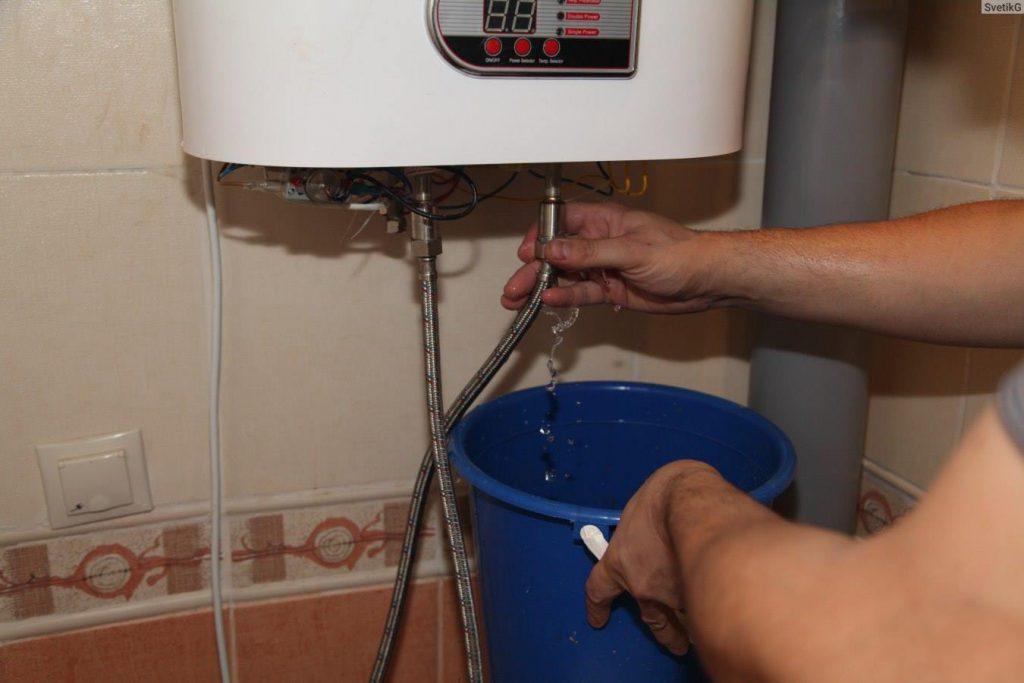 Как слить воду из бойлера