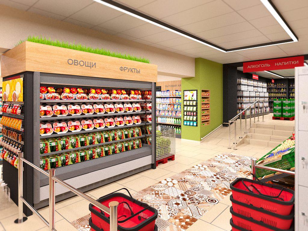 Проектирование интерьеров магазинов