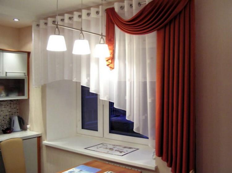 Асимметричные шторы в интерьере
