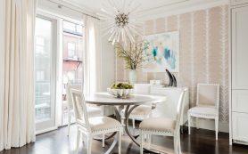 Вдохновляющий интерьер в стиле неоклассика для квартиры в Бостоне
