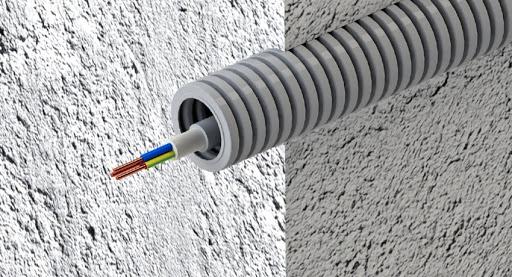 Гофрированные трубные изделия для кабеля
