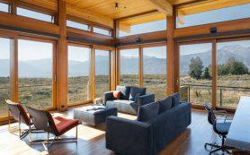 Панорамные деревянные окна