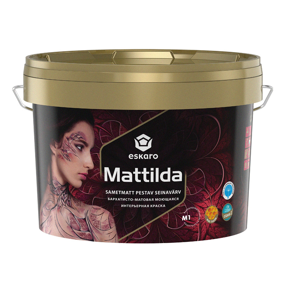 Моющаяся краска для стен и потолков Eskaro Mattilda