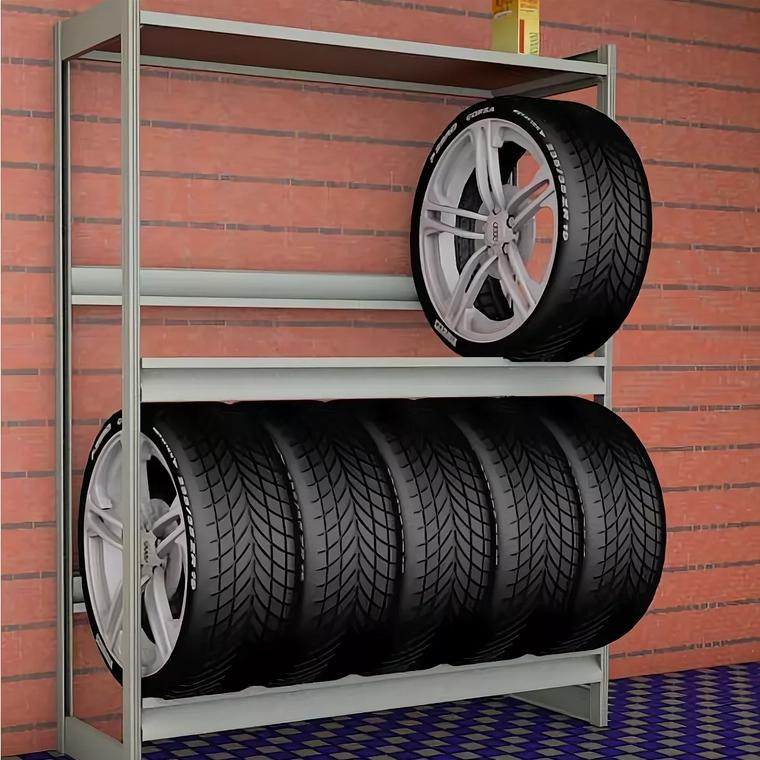 Стеллажи для колес в гараж
