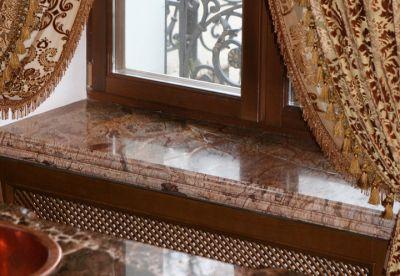 Мраморный подоконник – изысканность, стиль, качество