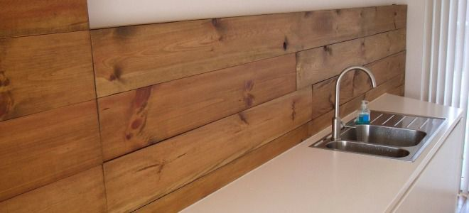 Отделка стен деревянными панелями