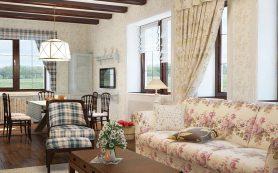 Обои в стиле прованс для гостиной: правила выбора
