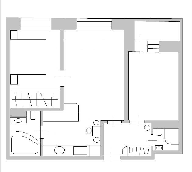Идеи планировки: перенос кухни в комнату или коридор