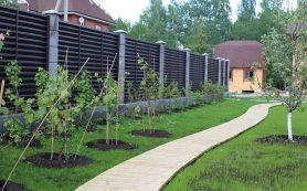 Забор для сада и архитектура дома