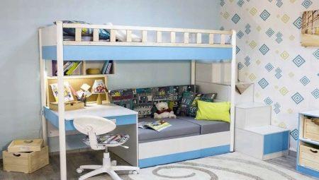 Кровати-чердаки с диваном: какими бывают и как выбрать?