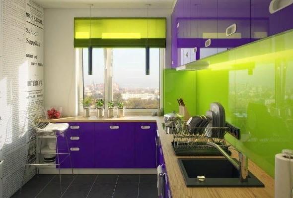 Цвета фасадов в интерьере кухни