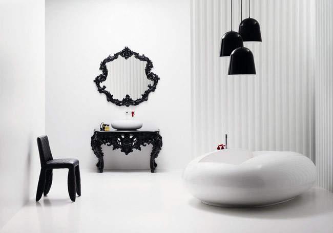 Черно-белая ванная комната: тренд с претензией на совершенство