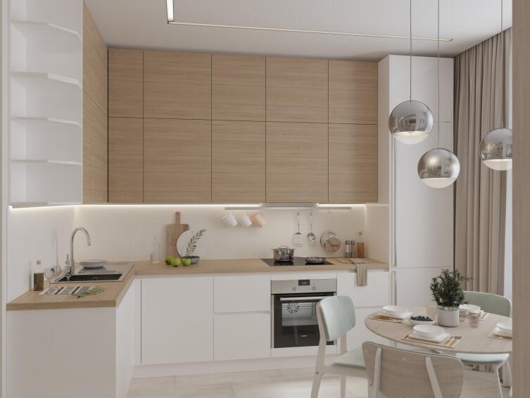 Чем плохи кухонные гарнитуры до потолка?