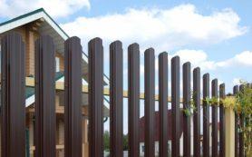 Забор из металлического штакетник