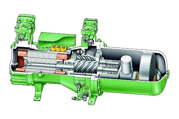 Принцип работы винтового компрессора