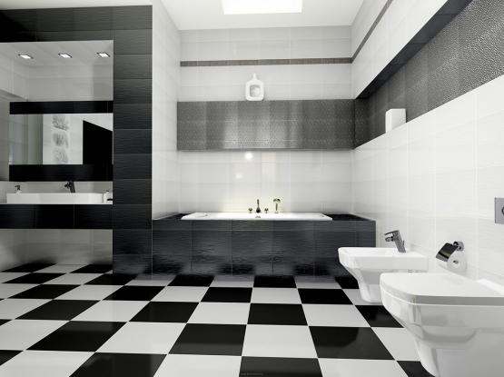 Черно — белая плитка
