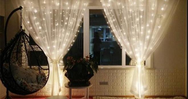 Гирлянда штора для дома и квартиры