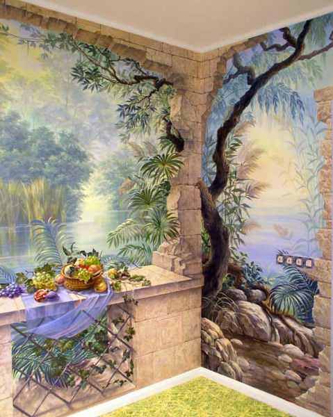 Фрески и художественная роспись на стенах